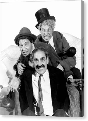 Marx Brothers - Groucho Marx, Chico Canvas Print by Everett