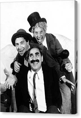 Marx Brothers, The Chico, Groucho Canvas Print by Everett