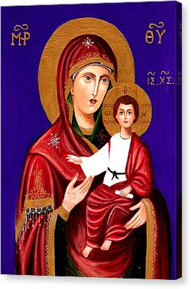 Mary And Jesus Canvas Print by Margo Hiotis