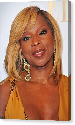 Mary J. Blige In Attendance For 2nd Canvas Print by Everett