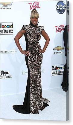 Mary J. Blige Wearing A Marc Bouwer Canvas Print by Everett
