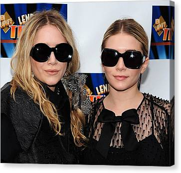 Opening Night Canvas Print - Mary Kate Olsen, Ashley Olsen by Everett