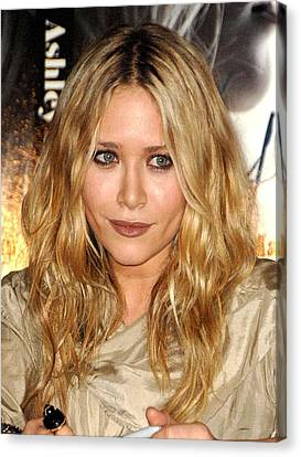 Mary-kate Olsen At In-store Appearance Canvas Print by Everett