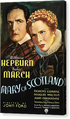 Mary Of Scotland, Fredric March Canvas Print by Everett