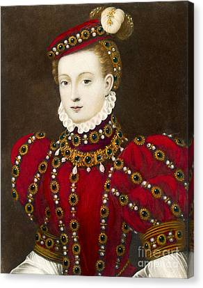Mary Queen Of Scots Canvas Print by Mary Evans Picture Library and Photo Researchers