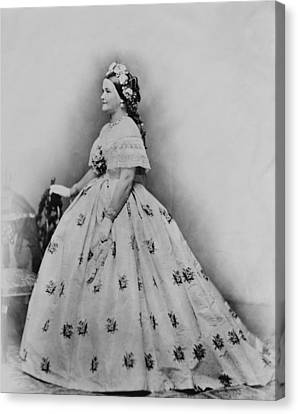Mary Todd Lincoln 1818-1882, As First Canvas Print by Everett