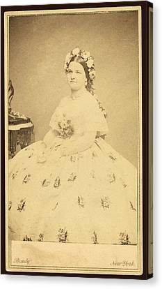 Mary Todd Lincoln 1818-1882 Canvas Print by Everett