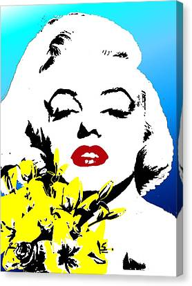Canvas Print featuring the painting Marylin Monroe by Jann Paxton