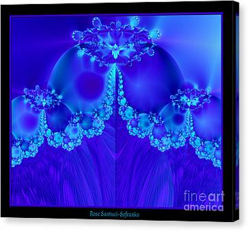 Marys Veil Fractal 60 Canvas Print by Rose Santuci-Sofranko