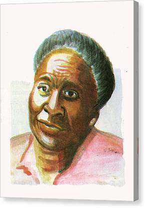 Maryse Conde Canvas Print by Emmanuel Baliyanga