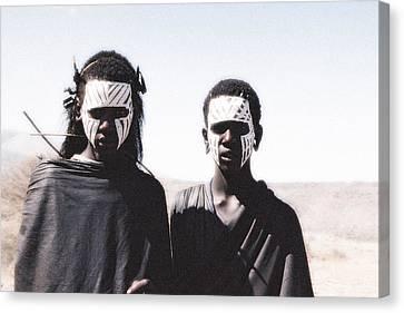 Masai Teens On Quest Canvas Print