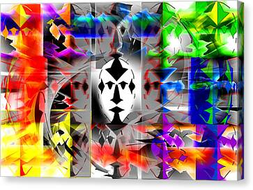 Mask Contemplations Canvas Print by AW Sprague II