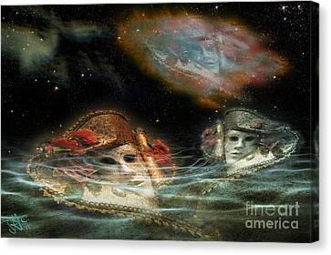 Mask Nebulae Canvas Print by Rosa Cobos
