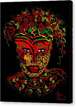 Masked Beauty Canvas Print by Natalie Holland