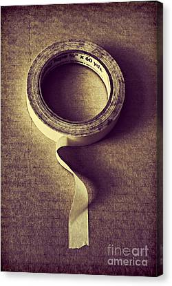 Cardboard Canvas Print - Masking Tape by HD Connelly