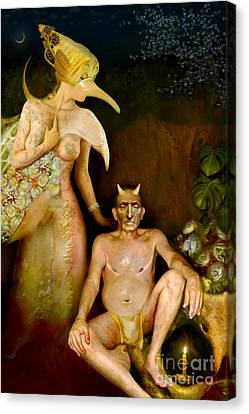 Masquerade - Beyond The Comedy Canvas Print by Alexei Solha