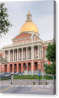 Massachusetts State House I Canvas Print by Clarence Holmes