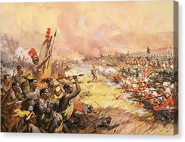 Massacre At Ulundi Canvas Print by James Edwin McConnell