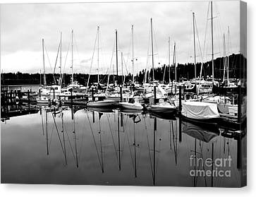 Masts Over And Under Canvas Print