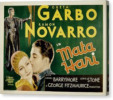 Mata Hari, Greta Garbo, Ramon Navarro Canvas Print by Everett