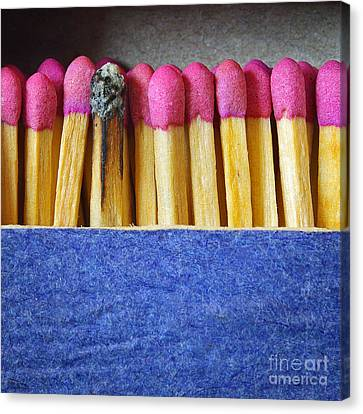 Cardboard Canvas Print - Matchbox by Carlos Caetano