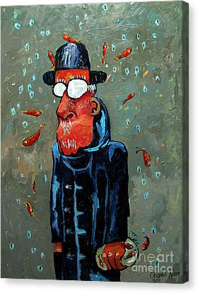 Matisse Juggling Fish In The Rain In His Brain Canvas Print by Charlie Spear