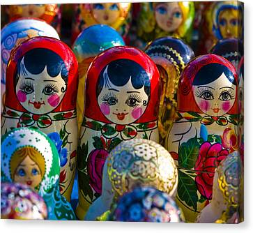 Matryoshka Doll  . . .  Russian Nesting Doll Canvas Print by Juli Scalzi
