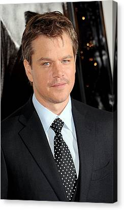 Matt Damon At Arrivals For Green Zone Canvas Print