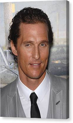 Matthew Mcconaughey At Arrivals For The Canvas Print by Everett