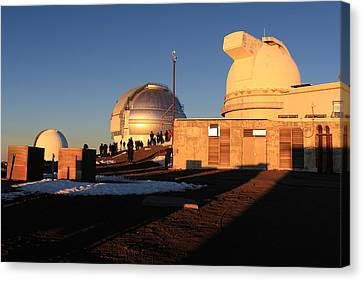 Keck Telescope Canvas Print - Mauna Kea Observatories by Scott Rackers