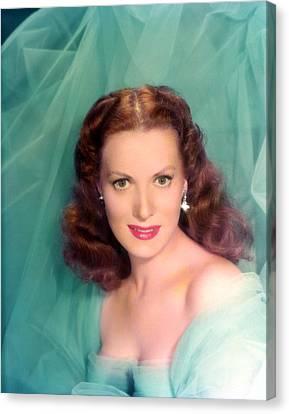 Maureen Ohara, 1940s Canvas Print by Everett
