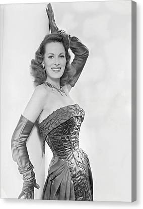 Maureen Ohara, Circa 1954 Canvas Print by Everett