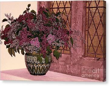 Mauve Bouquet Canvas Print by Ranjini Kandasamy