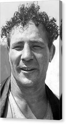 Max Baer Sr. 1909-1959 During Workout Canvas Print by Everett