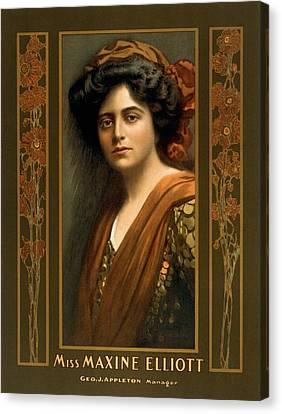 Maxine Elliott 1868-1940 An Actress Canvas Print by Everett