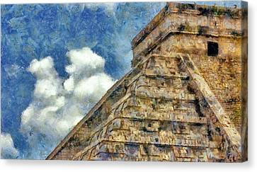 Mayan Mysteries Canvas Print by Jeff Kolker