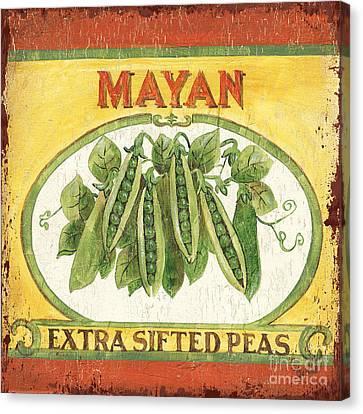 Mayan Peas Canvas Print by Debbie DeWitt