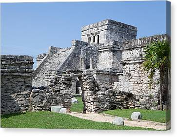 Mayan Ruins Canvas Print by Monica and Michael Sweet