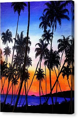 Mayaro Red Dawn Canvas Print by Karin  Dawn Kelshall- Best