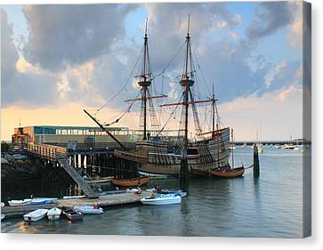 Mayflower II In Plymouth Harbor Canvas Print