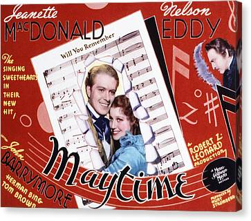 Maytime, Nelson Eddy, Jeanette Canvas Print by Everett
