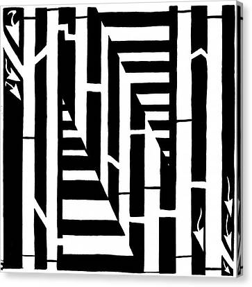 Maze Of The Letter N Canvas Print