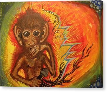 Mc Monkey Canvas Print by Zitlalli Rodriguez