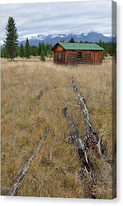 Mccarthy Family Cabin Glacier National Park Canvas Print by Bruce Gourley