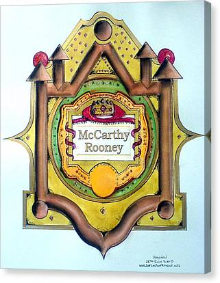 Mccarthy-rooney Family Crest Canvas Print