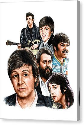 Mccartney - Heart Of The Band  Canvas Print by Jonathan W Brown