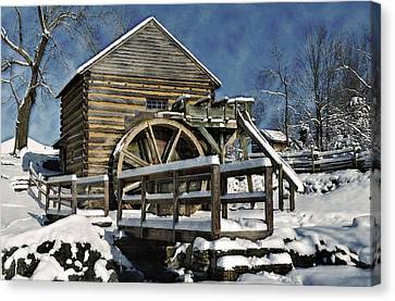 Mccormick's Farm February 2012 Series II Canvas Print by Kathy Jennings
