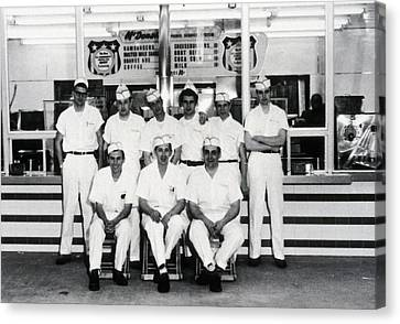 Hamburger Canvas Print - Mcdonalds Restaurant Original Crew by Everett