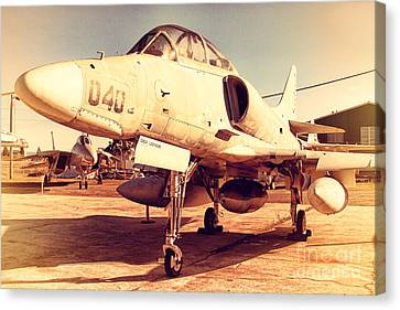 Mcdonnell Douglas Ta-4j Skyhawk Aircraft Fighter Plane . 7d11198 Canvas Print by Wingsdomain Art and Photography