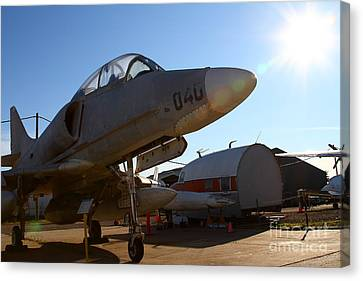 Mcdonnell Douglas Ta-4j Skyhawk Aircraft Fighter Plane . 7d11302 Canvas Print by Wingsdomain Art and Photography